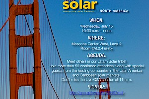 Sponsor: Latin America Solar Regional Meetup at Intersolar North America