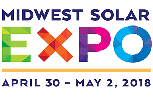 Sponsor/Exhibitor/Training/Speaking: Midwest Solar Expo 2018 - Booth #110
